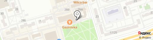 Стрелочка на карте Чебоксар