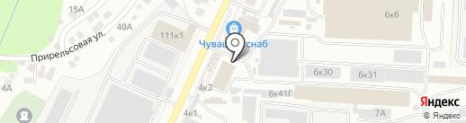 АКВО-Монтаж на карте Чебоксар