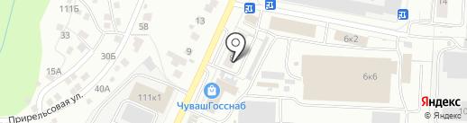 Кадастровый инженер Колокольцев Л.Г. на карте Чебоксар