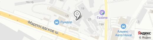 Динсайд на карте Чебоксар
