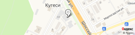 Магазин автозапчастей на ГАЗ на карте Кугесей