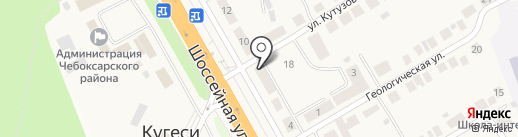 Звениговский на карте Кугесей