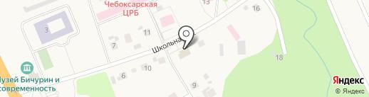 Сеспель на карте Кугесей