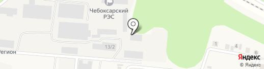 Автомойка для грузовых автомобилей на карте Кугесей