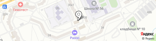 Сударь на карте Чебоксар