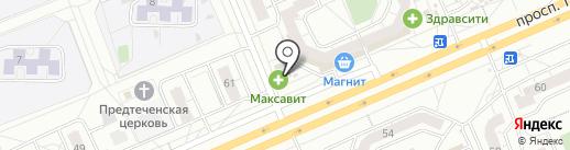 Максавит на карте Чебоксар
