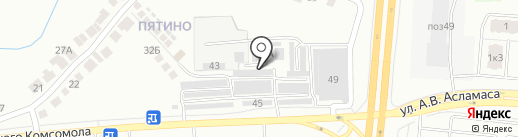 Радужный на карте Чебоксар