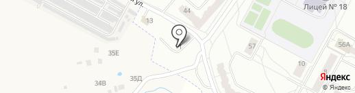 Автостоянка на карте Новочебоксарска
