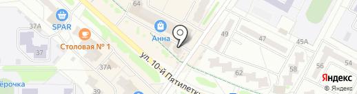 Первомайский, ЗАО на карте Новочебоксарска