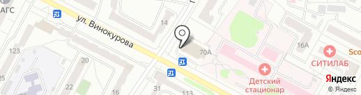 Сеть мясных отделов на карте Новочебоксарска