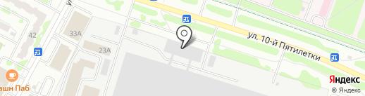 Пике на карте Новочебоксарска