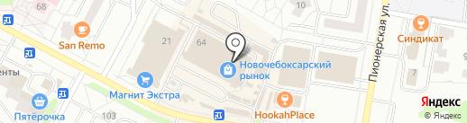 Юрма на карте Новочебоксарска