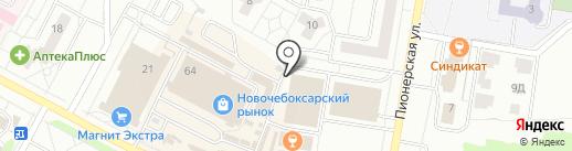 Хорошо на карте Новочебоксарска