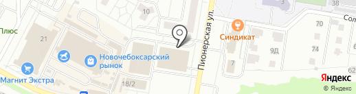 Сеть автомагазинов на карте Новочебоксарска
