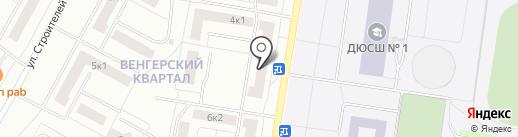 Фиолет на карте Новочебоксарска
