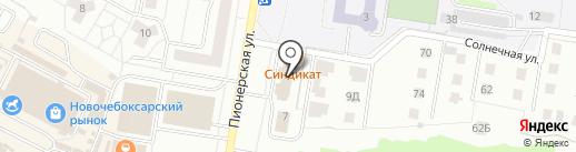 АКБ Чувашкредитпромбанк на карте Новочебоксарска