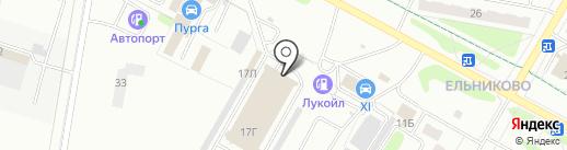 Брелок на карте Новочебоксарска
