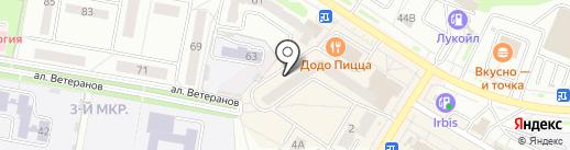 Микрон на карте Новочебоксарска