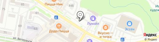 Коржик на карте Новочебоксарска