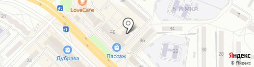 Парус на карте Новочебоксарска