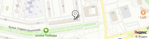 Почта банк, ПАО на карте Новочебоксарска