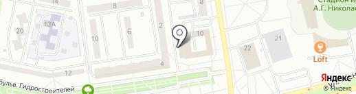 Якорь на карте Новочебоксарска