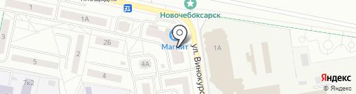 Расти большой на карте Новочебоксарска