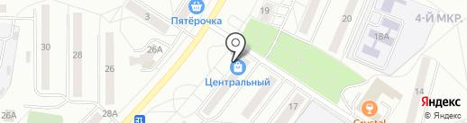 Крупинка на карте Новочебоксарска