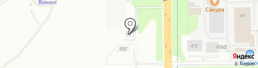 Сова на карте Новочебоксарска