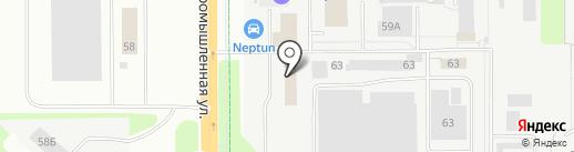 Альфа на карте Новочебоксарска