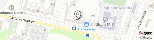 Сахарок на карте Новочебоксарска