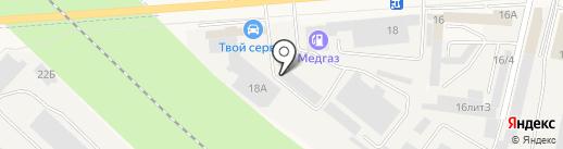 Бридж на карте Медведево