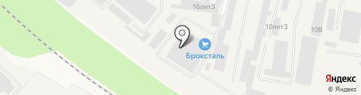 Броксталь на карте Медведево