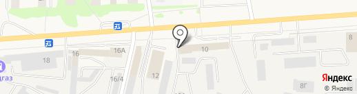 Автосервис на ул. Чехова на карте Медведево