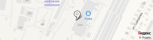 Татметлом, ЗАО на карте Медведево
