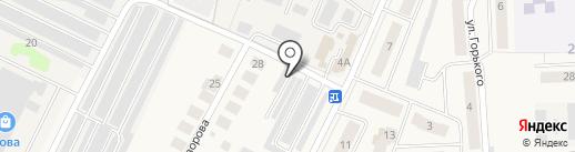 Гагаринский на карте Медведево