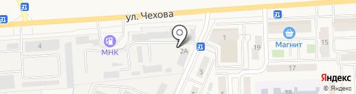 Теплица на карте Медведево