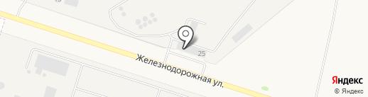 Центр железнодорожных перевозок на карте Медведево