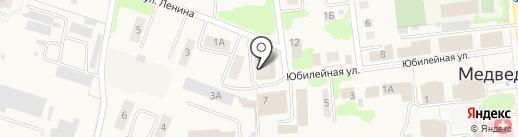 Семол на карте Медведево