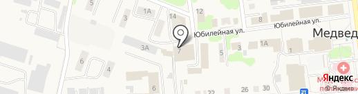 Медведевский хлеб на карте Медведево