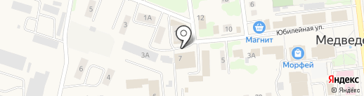 Медведевское районное потребительское общество, ПК на карте Медведево