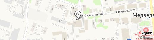 Магазин свежего хлеба на карте Медведево