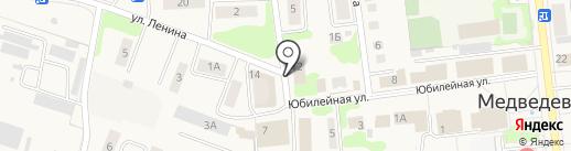 Медведевский районный отдел судебных приставов на карте Медведево