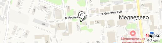Птица на карте Медведево
