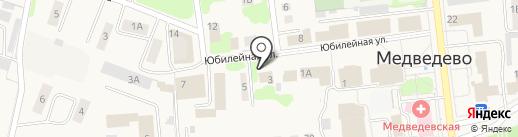 Магазин одежды и обуви на карте Медведево