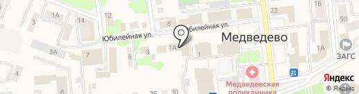 Магазин окон, дверей и бытовой химии на Юбилейной на карте Медведево
