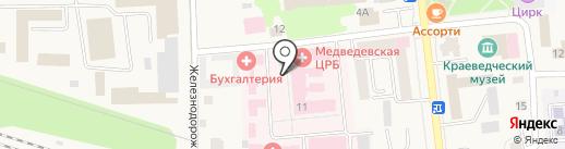 Медведевская центральная районная больница на карте Медведево