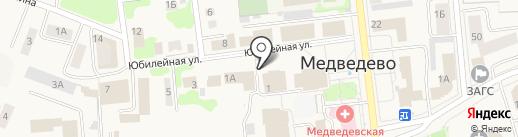 Максавит на карте Медведево