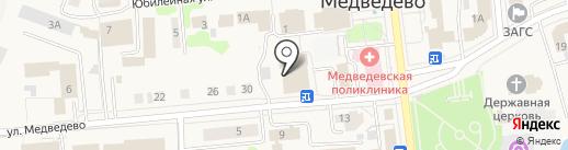 Наш на карте Медведево