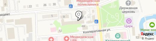 Межмуниципальный отдел МВД России на карте Медведево